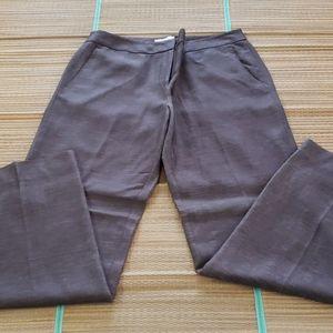 Women's Brown silk linen pants